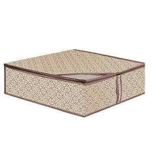 Кофр для хранения одеял, подушек и пледов В-17 Рыжий КОТ 50х58х19 см