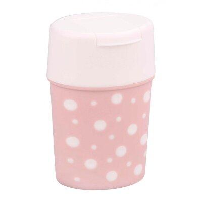 Солонка Горошек бело-розовый М7233 Альтернатива