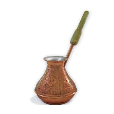 Кофеварка Турка медная Восточная Красавица 400 мл с высокой ручкой