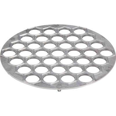 Форма для лепки пельменей металлическая 25 см, 37 ячеек