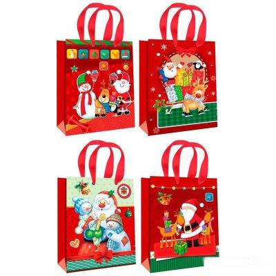 """Бумажный пакет с новогодней символикой """"Winter dreams"""" S 17.5x23.5x8 см"""