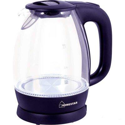 Чайник электрический стекло 1.7 л Homestar HS-1012 с фильтром 2200 Вт