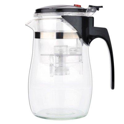 Чайник заварочный стеклянный с кнопкой 0.7 л Gung Fu Mallony