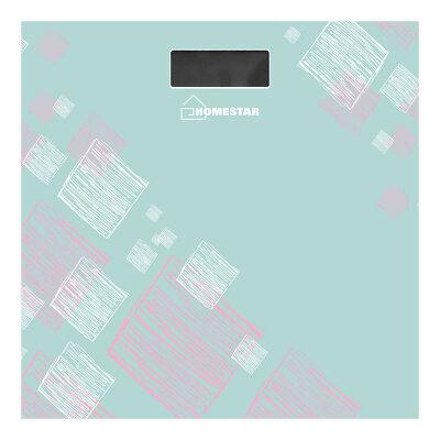 Весы напольные электронные до 180 кг HOMESTAR HS-6001D стеклянная поверхность, Серые с голубым