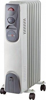 Обогреватель масляный электрический 7 секционный 1.5 кВт MAXTRONIC MAX-OR07-7M Серый с белым