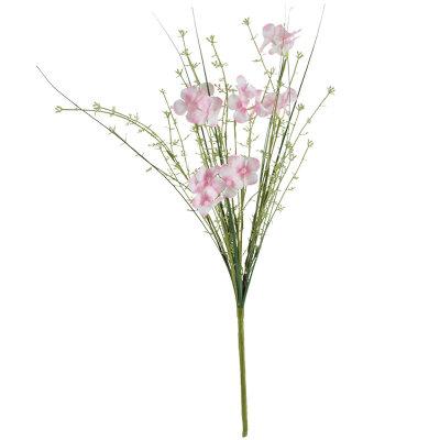 Искусственный полевой цветок для декора Лаватера 60 см