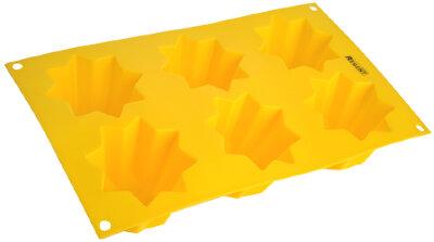 Прямоугольная форма для выпечки кексов на 6 шт «Маффины» силикон Regent 93-SI-FO-49 30х17.5х6 см