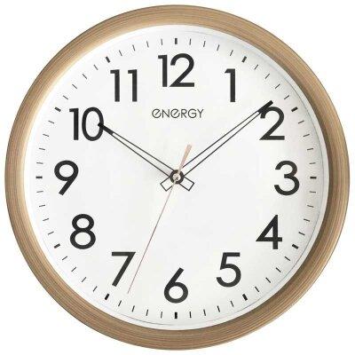 Часы круглые настенные с плавным ходом 31 см ENERGY ЕС-116 механизм кварцевый