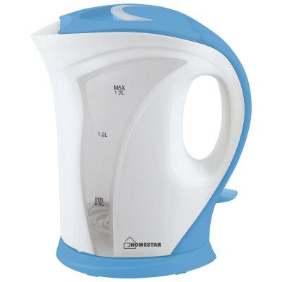Чайник электрический пластмассовый 1.7 л Homestar HS-1011-WBL 2200 Вт бело-голубой