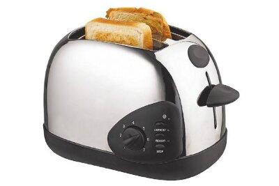 Тостер для поджаренного хлеба MAXTRONIC MAX-838 900 Вт нержавеющий корпус