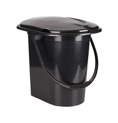 Ведро туалет на 17 литров М6355 Черное
