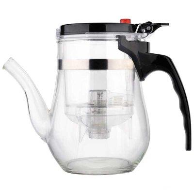 Mallony Gung Fu Заварочный чайник стеклянный 500 мл с кнопкой