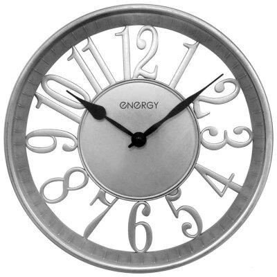 Часы настенные с большими цифрами 30 см ENERGY ЕС-117 без секундной стрелки круглые