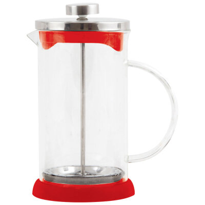 Чайник заварочный пресс Mallony GFP01-600ML-R Красный 600 мл стеклянный