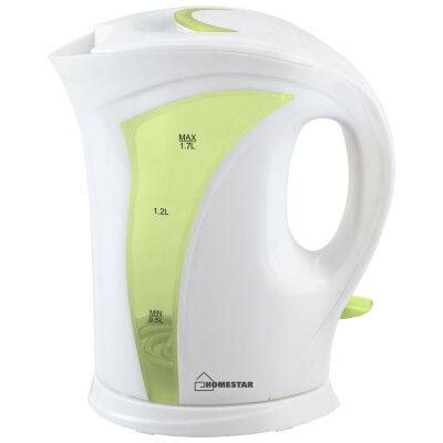 Чайник электрический пластмассовый 1.7 литра Homestar HS-1011 2200 Вт бело-зеленый