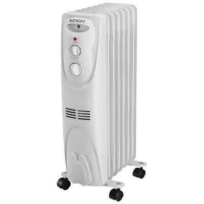 Обогреватель масляный электрический 7 секций 1.5 кВт ENGY EN-1307 Белый, с регулируемым термостатом