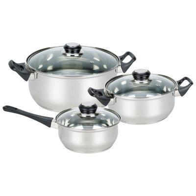 Набор посуды Mallony BAKS-SET-6 2 кастрюли и ковш 6 предметов сталь