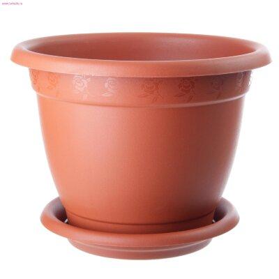 Горшок для цветов Борнео D210 (2,9л) с поддоном 42021 (40)