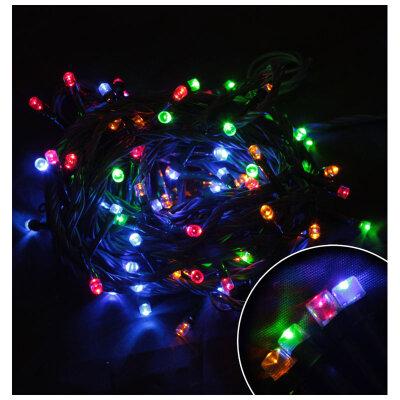 Светодиодная гирлянда многоцветная мигающая LED60-3-MC 60 LED, 3 метра 8 режимов