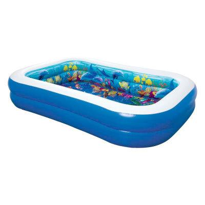 Bestway 54177 Бассейн надувной овальный для детей от 6 лет, 262x175x51 см, 778 л