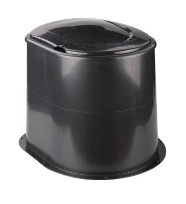 Унитаз на туалет с выгребной ямой без дна М6356 Альтернатива Черный