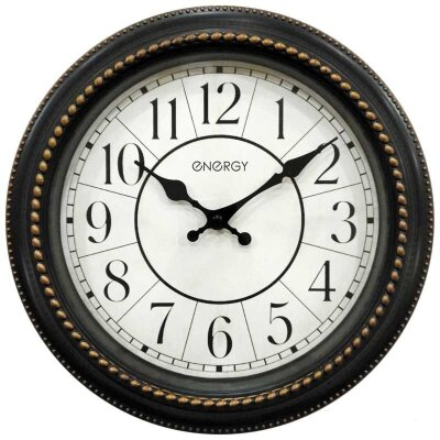 Часы настенные круглые 28 см ENERGY ЕС-118 без секундной стрелки плавный ход
