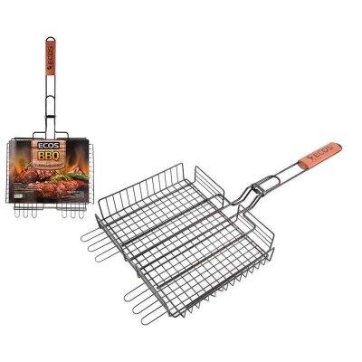 Решетка для барбекю ECOS-22139D с антипригарным покрытием 31x24x5 см и регулируемой глубиной