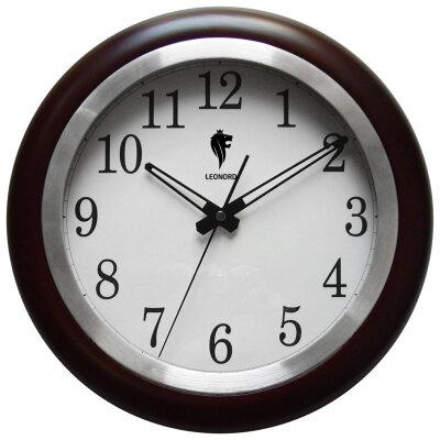 Часы кварцевые настенные круглые 32 см Leonord LC-02 с бесшумным ходом секундной стрелки