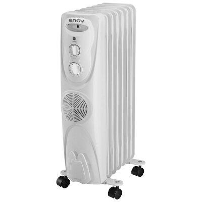 Масляный обогреватель с вентилятором 7 секций 2 кВт ENGY EN-1307F регулируемый термостат