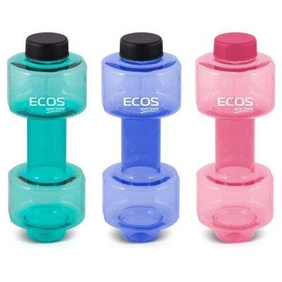 Фитнес бутылка для воды гантеля ECOS HG-228 c герметичной крышкой 8x21 см