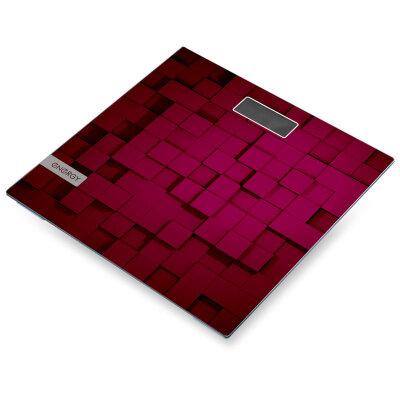 Весы напольные электронные домашние до 150 кг Energy EN-419С Бордовые, точность 100 грамм, стеклянные