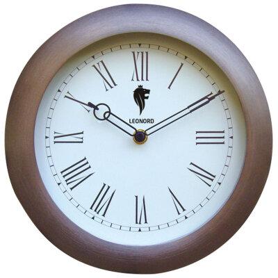 Часы круглые настенные 26 см Leonord LC-16 корпус - металл, пластик