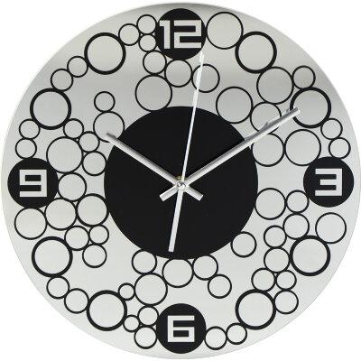 Часы круглые настенные 30 см MAXTRONIC  MAX-9700 корпус - стекло