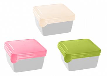 Набор контейнеров 0.45 л 3 шт БРАВО GR1039 квадратные пластиковые для хранения еды