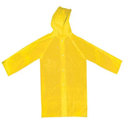 Дождевик плащ детский с капюшоном на застежках PARK RС-KID Желтый