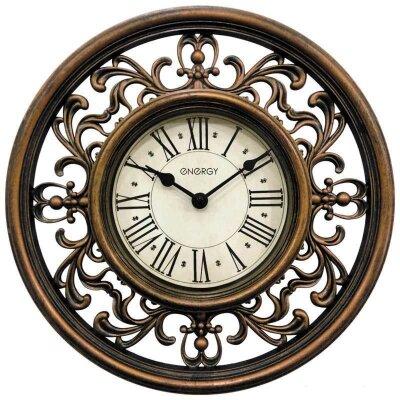 Часы настенные интерьерные круглые ENERGY ЕС-120 30 см кварцевые