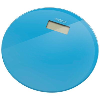 Весы напольные круглые электронные до 180 кг ENERGY EN-420 RIO-Bl стеклянные, Голубые
