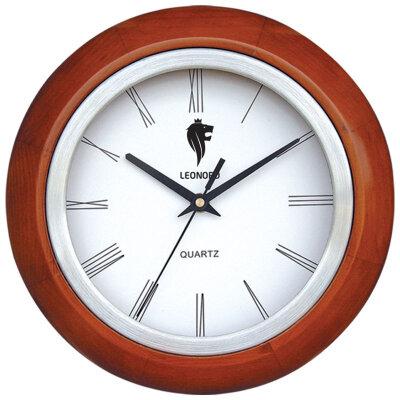 Часы круглые настенные 27 см LEONORD LC-63 кварцевый механизм с плавным ходом