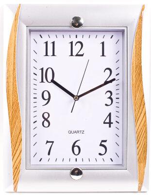 Часы настенные прямоугольные 24х31 см MAXTRONIC  MAX-8576A кварцевый механизм на батареке