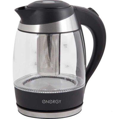 Чайник электрический ENERGY E-289 1.8 л 2200 Вт стекло с фильтром для заваривания чая