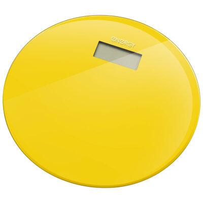 Весы напольные круглые электронные до 180 кг ENERGY EN-420 RIO-Y стеклянные, желтые
