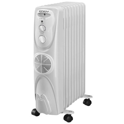 Масляный обогреватель с вентилятором 9 секций 2.5 кВт ENGY EN-1309F регулируемый термостат