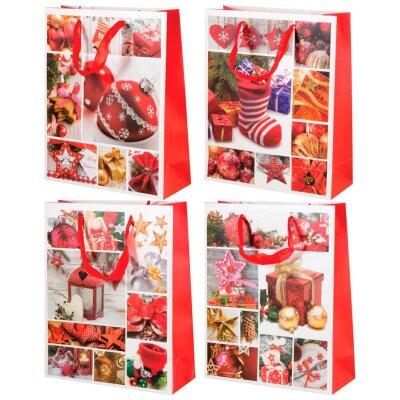 """Подарочный пакет с новогодней символикой """"Зимняя сказка-1"""" 30x12x3.5 см"""