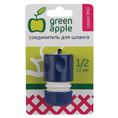 "Green Apple GAES20-04 Соединитель для шланга на 1/2"" 12 мм, пластик"