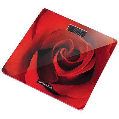 Весы бытовые напольные электронные до 180 кг HOMESTAR HS-6002B стеклянная поверхность с термометром , 28x28 см
