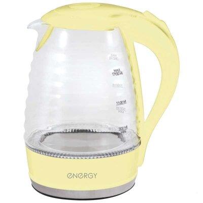ENERGY E-283 Чайник электрический стеклянные прозрачный 1.7 л 2200 Вт, Бежевый