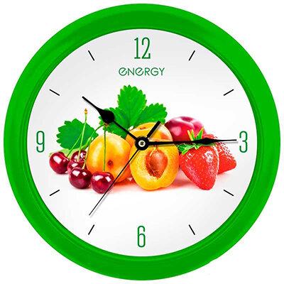Часы настенные круглые 25 см ENERGY ЕС-112 Фрукты на батарейке