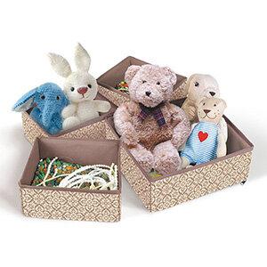 Набор коробок для хранения вещей Рыжий КОТ 4 шт  26х26х8, 20х16х8, 20х16х8, 26х14х8 см