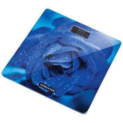 Весы бытовые напольные электронные до 180 кг HOMESTAR HS-6002C стеклянная поверхность, термометр, 28x28 см