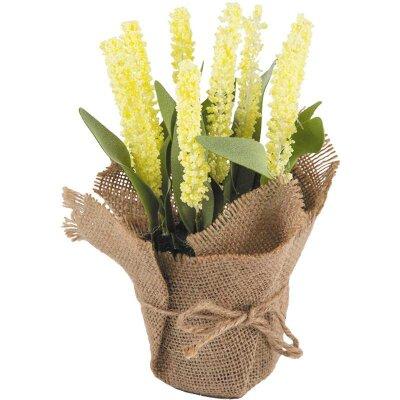 Искусственный цветок в горшке Лишеналия для декора 21 см